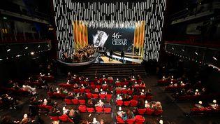 La centaine d'invités de la 46e edition de la cérémonie des César à l'Olympia le 12 mars 2021. (BERTRAND GUAY / AFP)