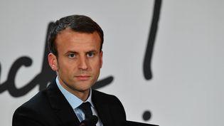 Le leader du mouvement En Marche !, Emmanuel Macron, le 5 novembre 2016 à Paris. (FRANCOIS PAULETTO / CITIZENSIDE / AFP)