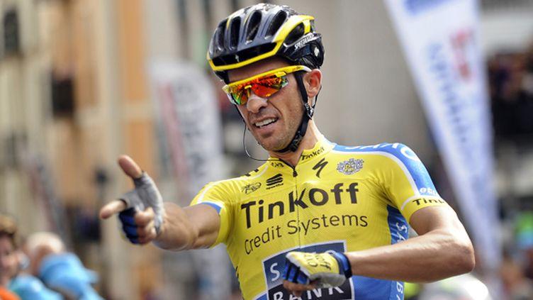 Alberto Contador (Tinkoff) dégaine (RAFA RIVAS / AFP)