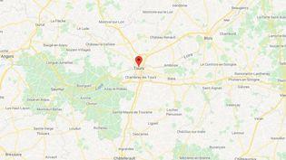 La ville de Tours en Indre-et-Loire. (GOOGLE MAPS / FRANCETV INFO)