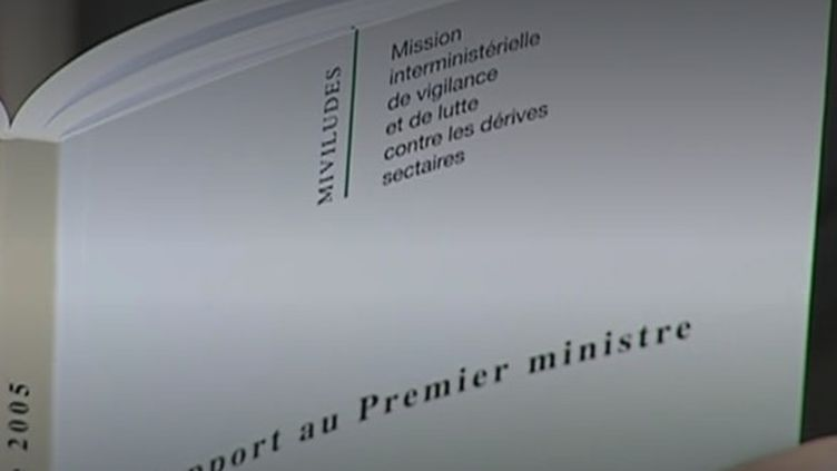 Un précédent rapport de la Miviludes, la Mission interministérielle de lutte contre les dérives sectaires.(Photo d'illustration) (Capture d'écran Franceinfo)