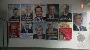 Tous les candidats ont leur affiche de campagne. (FRANCE 2)