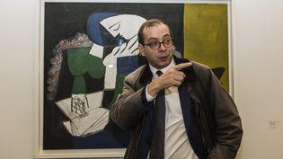 Laurent Le Bon, le directeur du Musée Picasso de Paris, présente l'exposition anniversaire du musée (19 octobre 2015)  (Aurélien Morissard / IP3PRESS / MAXPPP)
