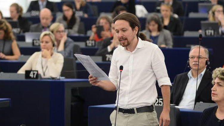Pablo Iglesias Turrion, membre du parti Podemos. (EP 2014)