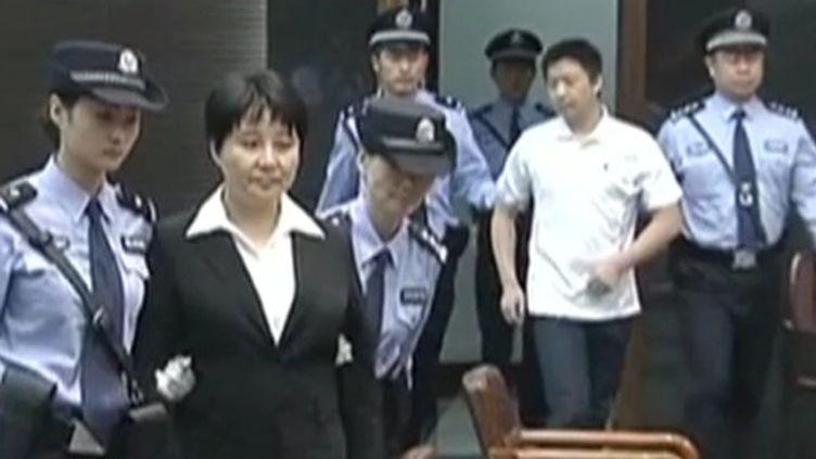 Gu Kailai lors de son proçès le 20 aout 2012 (FTV)