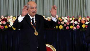 Le président algérien Abdelmajid Tebboune lors d'une cérémonie à Alger (Algérie) le 19 décembre 2019 (MOHAMED MESSARA / EPA)