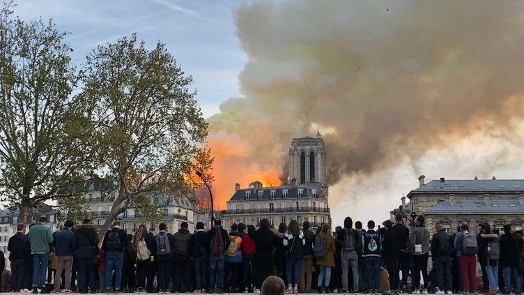 Incendie de Notre-Dame de Paris, le 15 avril 2019. (ALEXANDRE FRÉMONT / FRANCE BLEU PARIS / RADIO FRANCE)