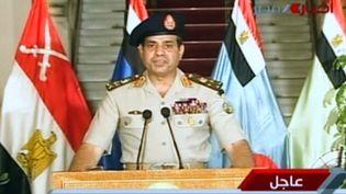 Le généréal Abdelfatah Al-Sissi, le 3 juillet 2013. (EGYPTIAN TV / AFP)
