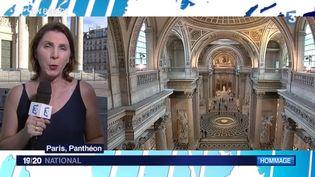 Emmanuel Macron a décidé en accord avec sa famille de faire entrer Siomone Veil au Panthéon aux côtés de son époux. C'est un geste fort et symbolique de la part du président de la République. En direct du Panthéon à Paris, Béatrice Gélot fait le point. (FRANCE 3)