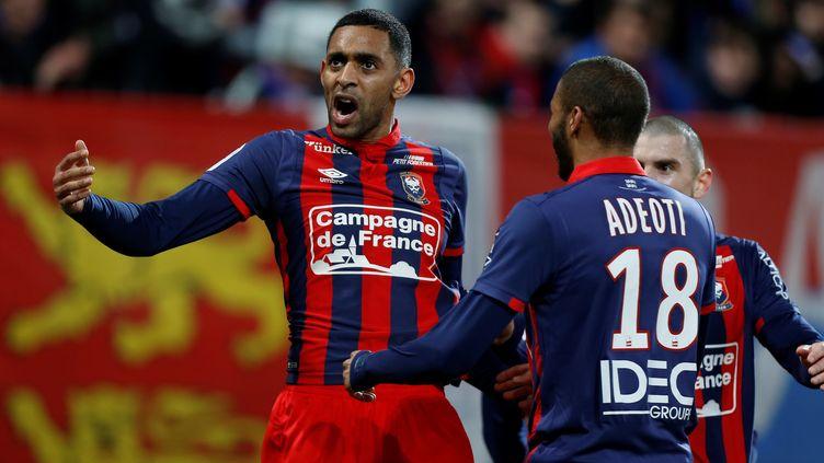 Ronny Rodelin a libéré Caen (CHARLY TRIBALLEAU / AFP)