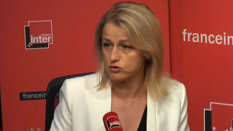 Barbara Pompili, députée LREM de la Somme et rapporteure de la Commission d'enquête parlementaire sur la sûreté et la sécurité des installations nucléaires jeudi 05 juillet 2018 sur France Inter. (RADIO FRANCE / CAPTURE D'ÉCRAN)