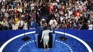 La maire de Baltimore Stephanie Rawlings-Blake ouvre la convention démocrate à Philadelphie (Etats-Unis), le 25 juillet 2016. (RICK WILKING / REUTERS)