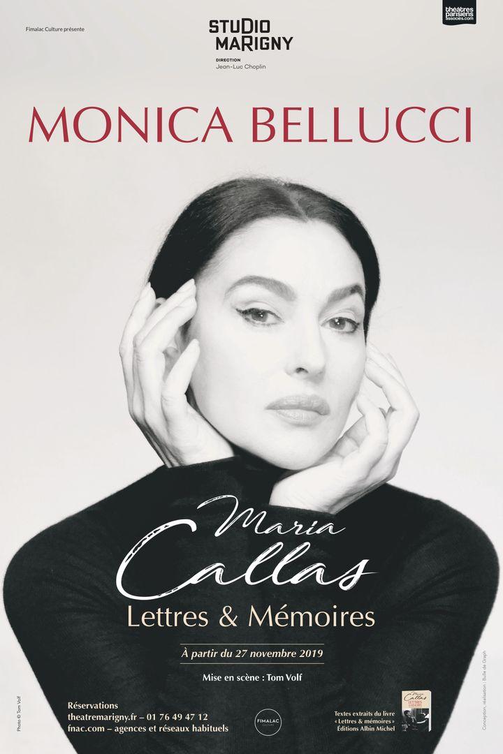 """L'affiche de """"Maria Callas - Lettres et Mémoires"""", au Studio Marigny, à Paris, jusqu'au 18 décembre 2019. (DR)"""