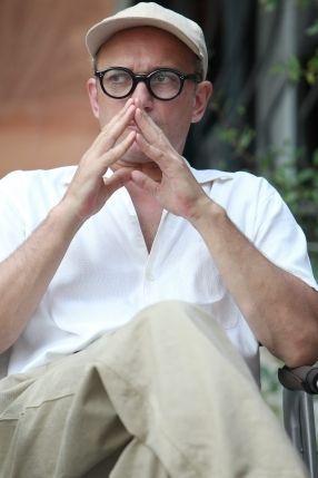 Vincent Perez sous les traits de l'architecte suisse, Le Corbusier.  (PHOTOPQR/NICE MATIN)