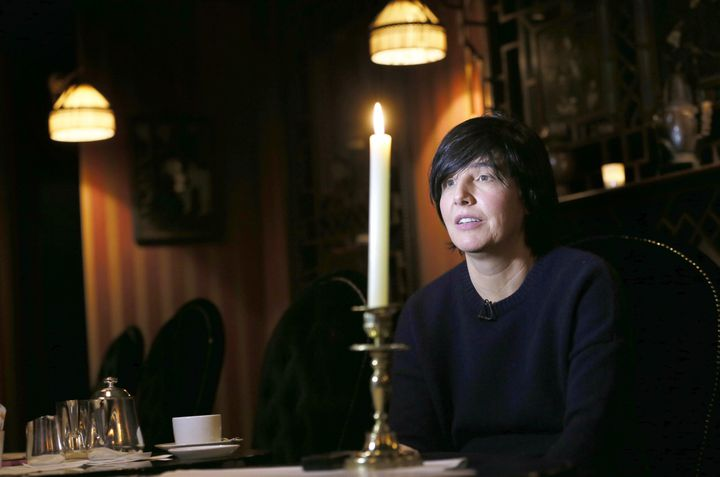 Sharleen Spiteri (groupe Texas) à Paris en décembre 2014, pendant une interview.  (PATRICK KOVARIK / AFP)
