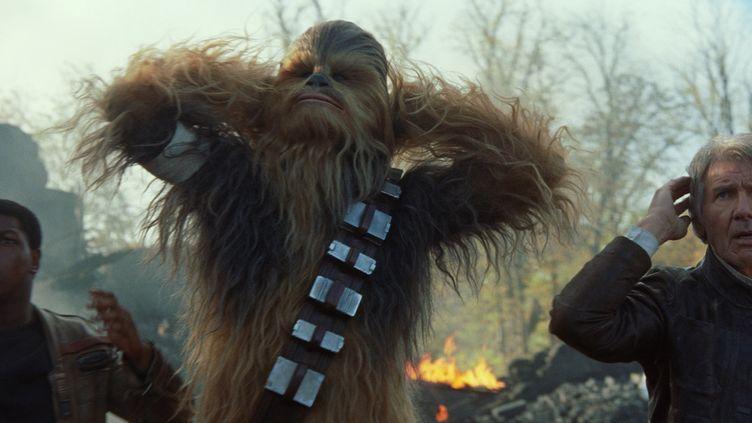 """Harrison Ford et John Boyega dans """"Le Réveil de la force"""", le septième épisode de """"Star Wars"""""""
