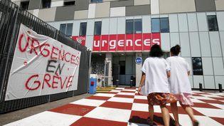 Lepersonnel des urgences de l'hôpital Pasteur 2 de Nice est en grève depuis trois semaines. (DYLAN MEIFFRET / MAXPPP)