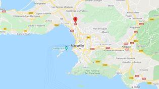 Les faits ont eu lieu au niveau de la sortie les Aygalades, au nord de Marseille, dans le sens Aix-Marseille. (GOOGLE MAPS / FRANCETV INFO)