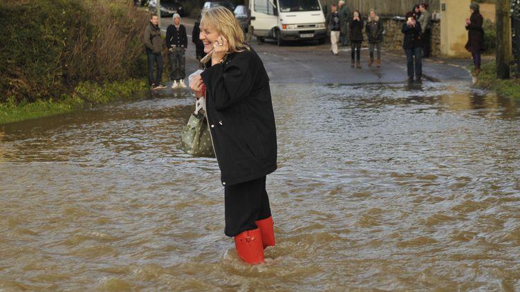 Inondationsdans leDorset(Royaume-Uni), le 24 décembre2013. (COAA / ZDS / WENN.COM / SIPA )