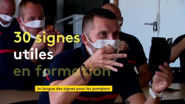 les pompiers initiés à la langue des signes