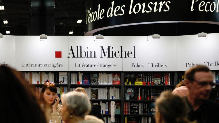 Le stand des éditions Albin Michel au salon Livre Paris, le 14 mars 2019 (LAURE BOYER / HANS LUCAS)