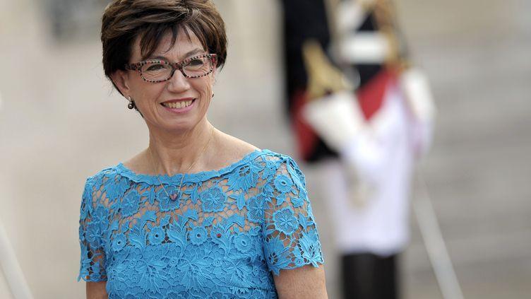 Anne-Marie Couderc à son arrivée à l'Elyseé, le 6 juin 2014. (FRED DUFOUR / AFP)