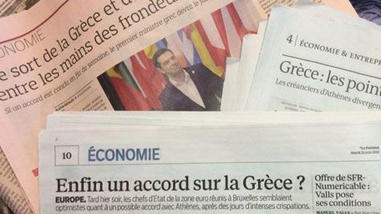Le feuilleton grec à la Une de la presse. (DR)