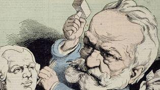 André Gill, Louis -Alexandre Gosset de Guines, dit Victor Hugo, Interdit en 1874, publié dans L'Éclipse le 29 août 1875.  (Maisons de Victor Hugo/ Roger-Viollet)