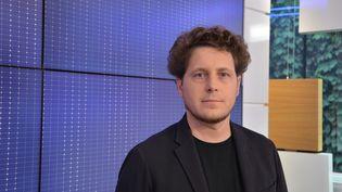 Julien Bayou, porte-parole d'Europe-Ecologie-Les Verts. (JEAN-CHRISTOPHE BOURDILLAT / RADIO FRANCE)