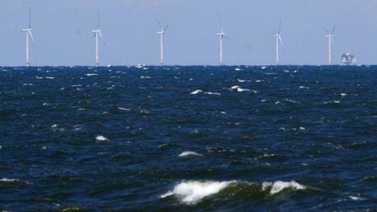 AFP-Johannes Eisele (Des éoliennes offshore dans la mer Baltique implantées par des opérateurs allemands.)