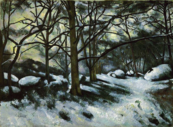 "Paul Cézanne, ""Neige fondante à Fontainebleau"", vers 1879-1880, New York, The Museum of Modern Art, don de M. et Mme André Meyer, 1961  (2017. Digital image, The Museum of Modern Art, New York/Scala, Florence)"