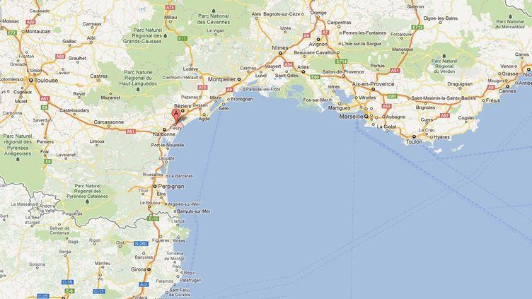 Capture d'écran Google Maps de Fleury (Aude), où a été retrouvé le corps d'Adeline Beau. (FTVI)