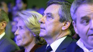 Le candidat de la droite à la présidentielle, François Fillon, le 15 février 2017 en déplacement à Compiègne, dans l'Oise. (FRANCOIS NASCIMBENI / AFP)