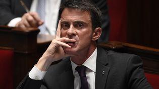 Manuel Valls à l'Assemblée nationale, à Paris, 11 mai 2016. (MARTIN BUREAU / AFP)
