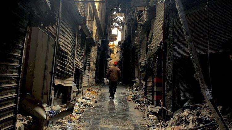 La vieille ville d'Alep en ruines (15 février 2016)  (Michael Alaeddin / Ria Novosti / AFP)