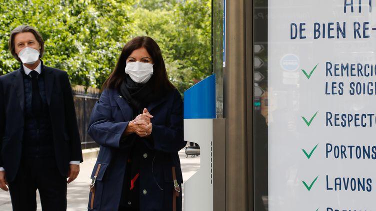 Anne Hidalgo, le 12 mai 2020, à Paris. (FRANCOIS GUILLOT / AFP)