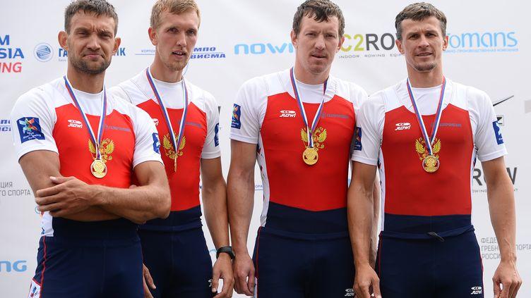 Ivan Balandin, deuxième en partant de la droite, ne sera pas à Rio (RAMIL SITDIKOV / SPUTNIK)