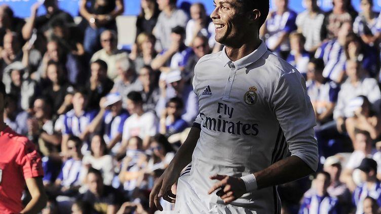 Cristiano Ronaldo tout sourire (ANDER GILLENEA / AFP)