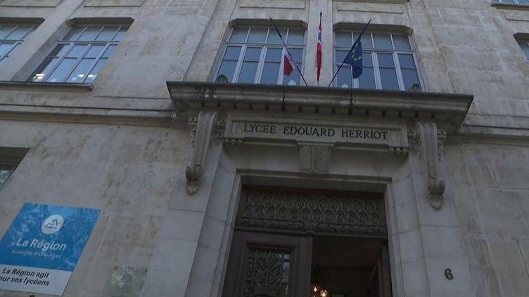 Il y a trente ans, Samuel Paty avait été scolarisé au lycéeÉdouard Herriot, à Lyon (Rhône). (CAPTURE ECRAN FRANCE 2)