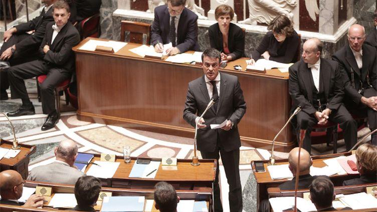 (Manuel Valls a exclut toute intervention terrestre en Syrie ce mardi après-midi à l'Assemblée Nationale © MaxPPP)