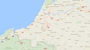 Le meurtre de la jeune femme, enceinte de 8 mois, a eu lieu, mercredi 13 septembre, à Ustaritz (Pyrénées-Atlantiques) (GOOGLE MAPS / FRANCEINFO)