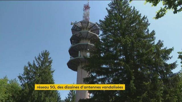 Réseau 5G : des dizaines d'antennes vandalisées