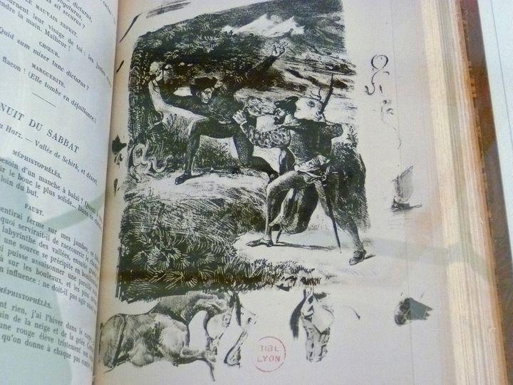 """""""Faust"""", de Goethe illustré par Eugène Delacroix  (Odile Morain)"""