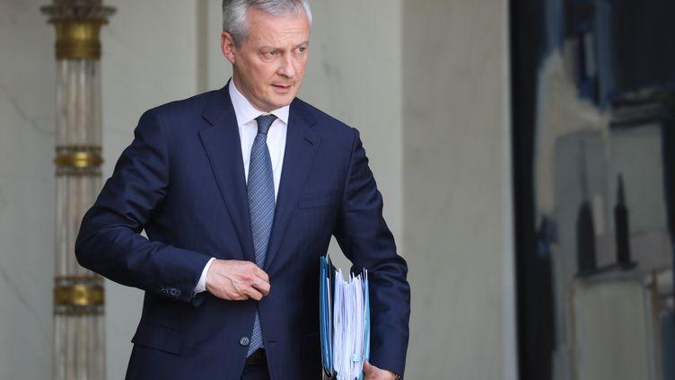 Bruno Le Maire, le ministre de l'Economie et des Finances, quitte le palais de l'Elysée le 22 mai 2019. (LUDOVIC MARIN / AFP)