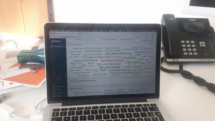 Système de traitement des données des contributions déposées sur internet dans le cadre du grand débat national. (JÉRÔME JADOT / RADIO FRANCE)