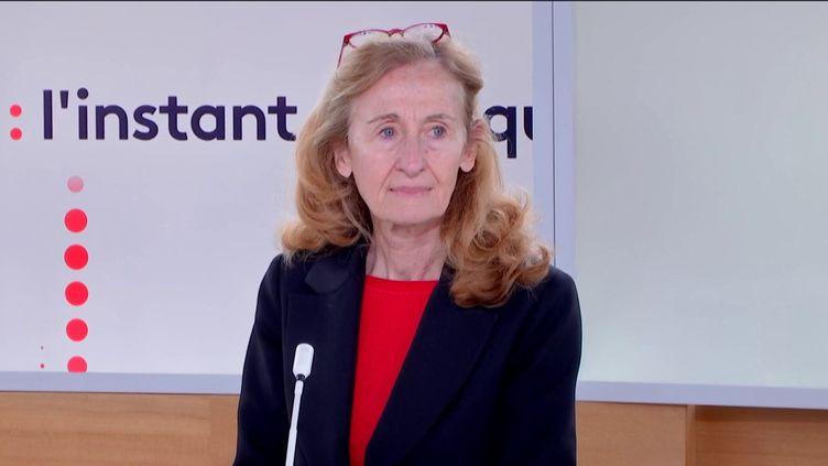 La ministre de la Justice Nicole Belloubet sur le plateau de franceinfo, le 10 février 2020. (FRANCEINFO)