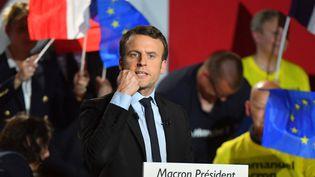 Emmanuel Macron était en meeting mercredi 26 avril à Arras. (CHRIS NAIL / ANADOLU AGENCY)