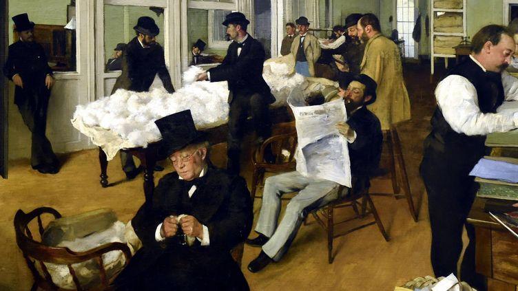 """""""Le bureau de coton à la Nouvelle-Orléans"""" - Edgar Degas (1873)  (PHOTOPQR/L'EST REPUBLICAIN/MAXPPP)"""