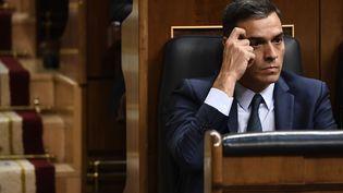 Pedro Sanchez, le 25 juillet 2019 à Madrid, en Espagne. (OSCAR DEL POZO / AFP)