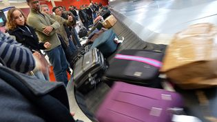 Des voyageurs attendent leurs bagages à l'aéroport d'Orly, le 28 décembre 2012. (MIGUEL MEDINA / AFP)